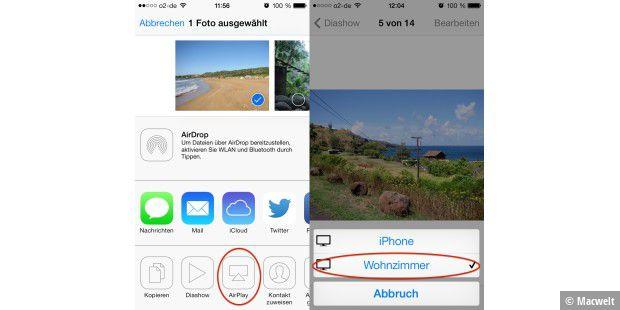 Iphone 6 diashow hintergrund
