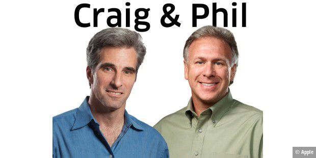 Apples Senior Vice Presidents, Phil Schiller und Craig Federighi.
