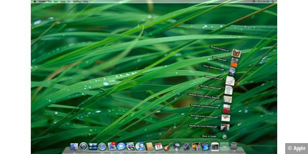 Desktop mit Stacks