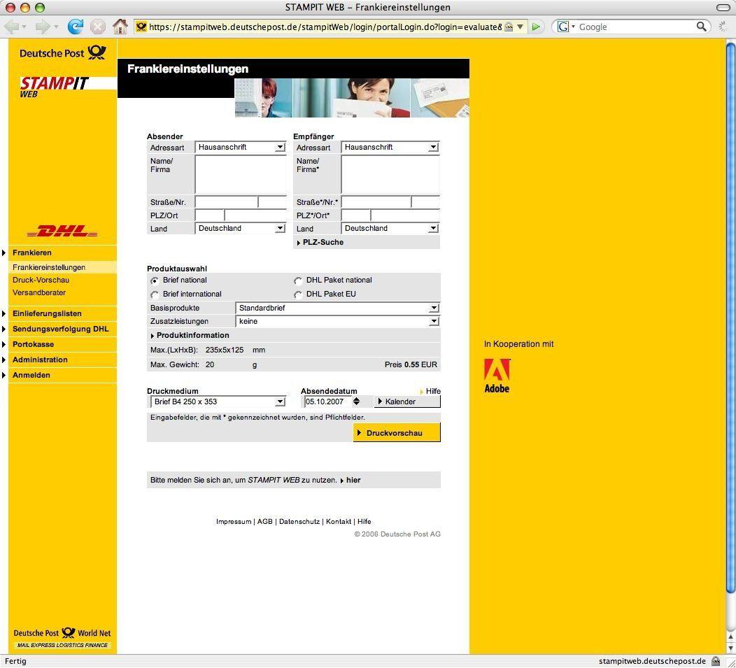 Post Kunden Nutzen Online Frankierung Macwelt