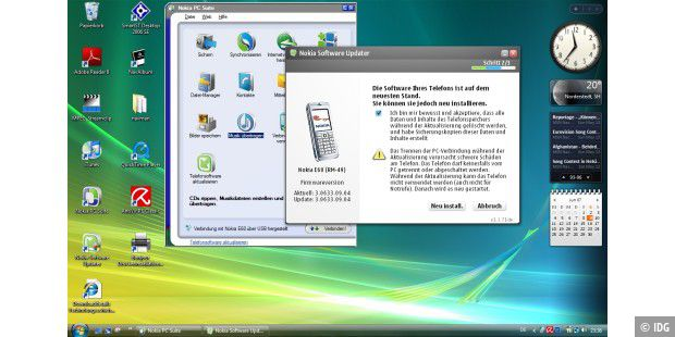 Mac-OS X und Windows Vista: 06