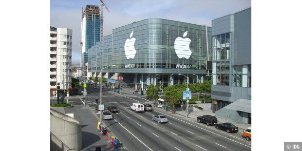 Fast immer Sonne zur WWDC: Die Messehalle Moscone West in San Francisco