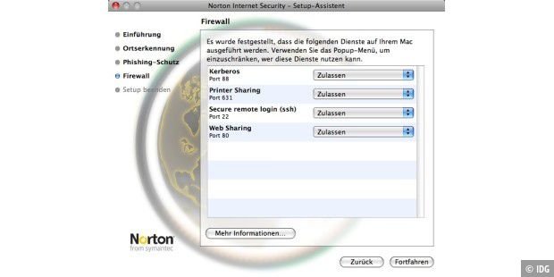 Grundkonfiguration Norton Internet Security 4