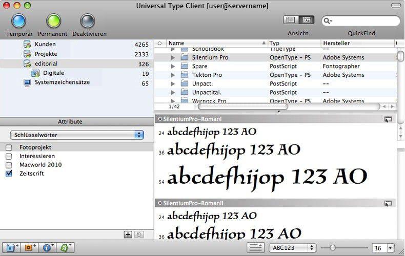 Extensis Universal Type Server 2 0 veröffentlicht - Macwelt