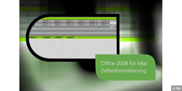 Macwelt-TV: Office 2008 Zellenformatierung