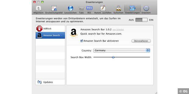 Endlich: Erweiterungen für Safari - Macwelt