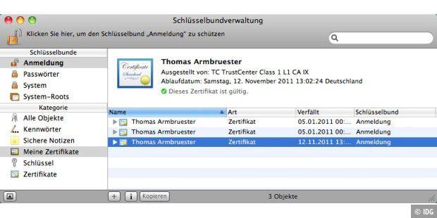 Mail-Zertifikate verwalten - Macwelt