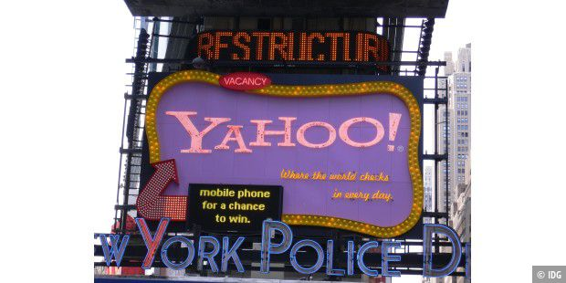 Yahoo-Werbung am Times Square, New York City