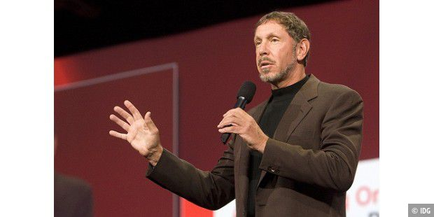 Larry Ellison bei der OracleWorld 2008
