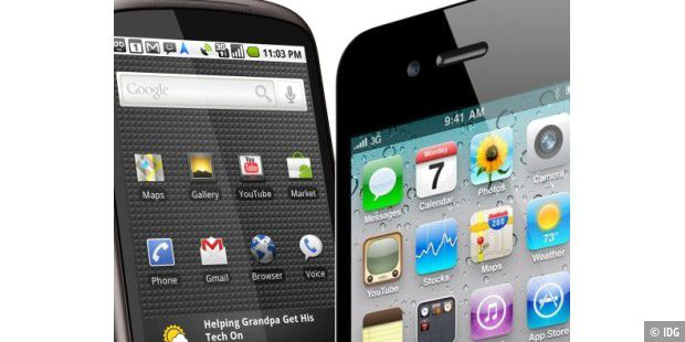 Android gegen iPhone 4