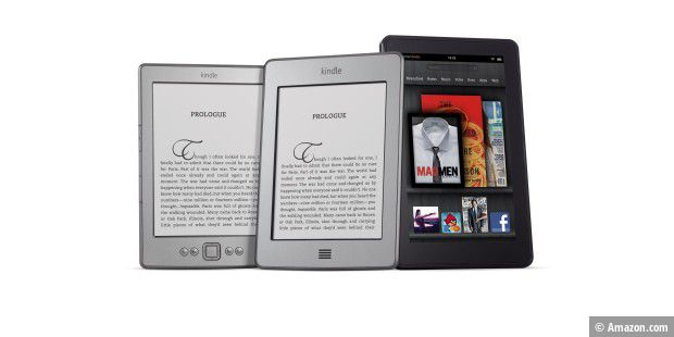 Kindle (gibt's auch hier), Kindle touch und Kindle fire (beide U.S. only)