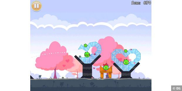 Angry Birds Seasons Valentinstag