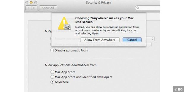 Mountain Lion: Gatekeeper