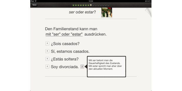 """Mit dem Thema """"Familie und Freunde"""" kann man auch prima die Unterschiede zwischen """"ser"""" und """"estar"""" erklären."""