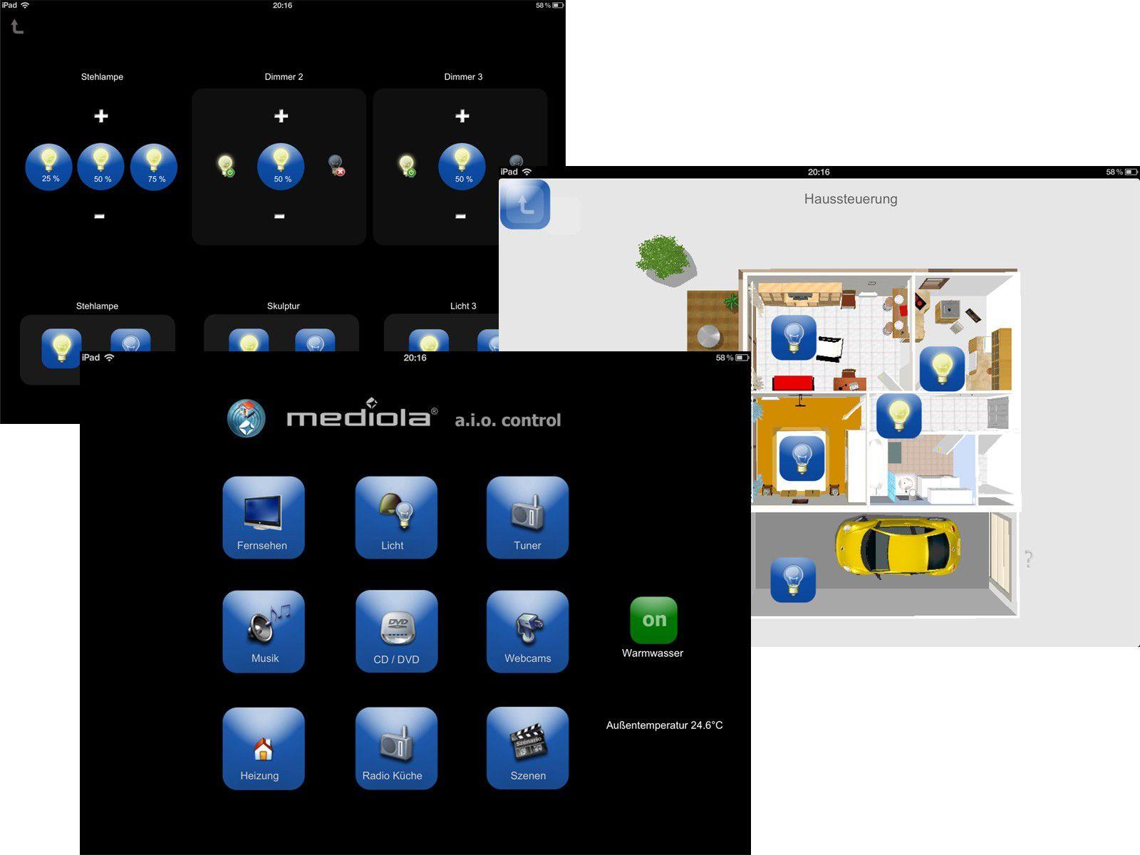 haussteuerung mit dem ipad macwelt. Black Bedroom Furniture Sets. Home Design Ideas