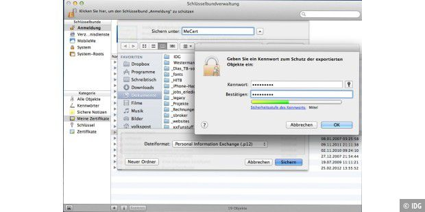 Zertifikat für iOS exportieren und installieren - Macwelt