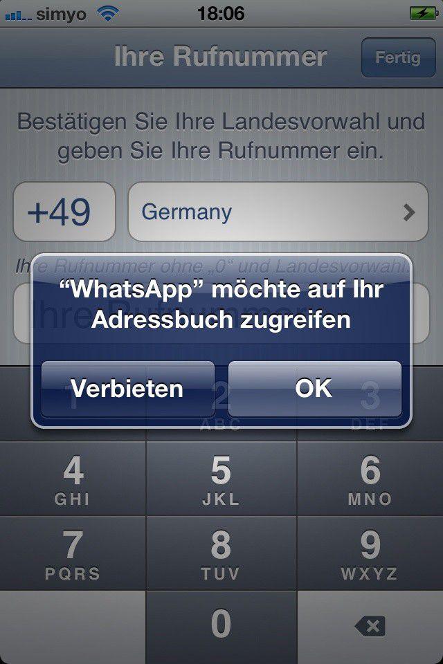 whatsapp datenübertragung