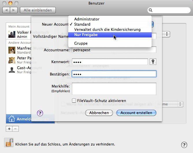 externe festplatte im netzwerk freigeben mac os x