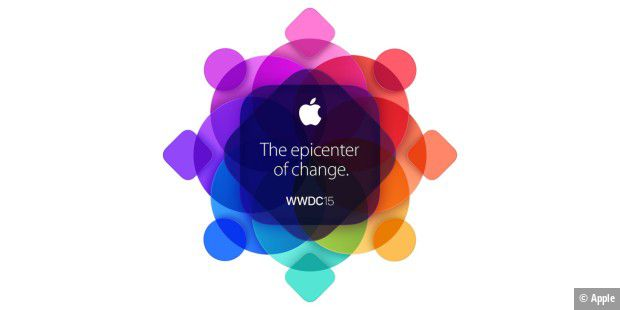 "Das aktuelle Logo der WWDC 2015 zeigt das Motto ""The epicenter of Change"""