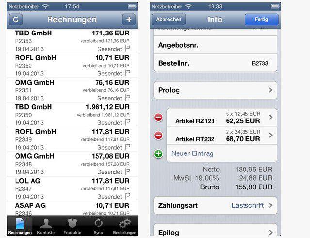 Rechnungen Per Iphone Erstellen Macwelt