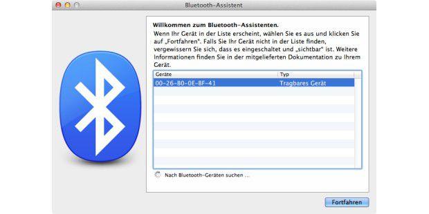 Die Bluetooth-Verbindung muss man auf dem iOS-Gerät noch bestätigen, dann ist der Zugang zum Netz frei.