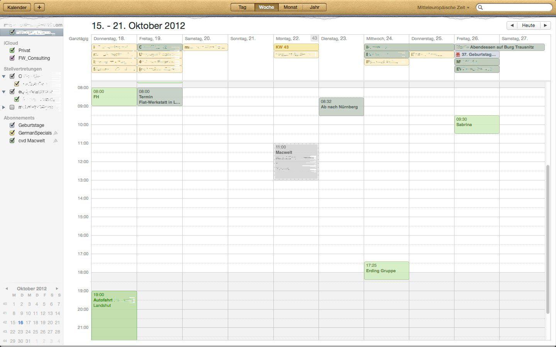OS X Versteckte Funktionen in Kalender Macwelt