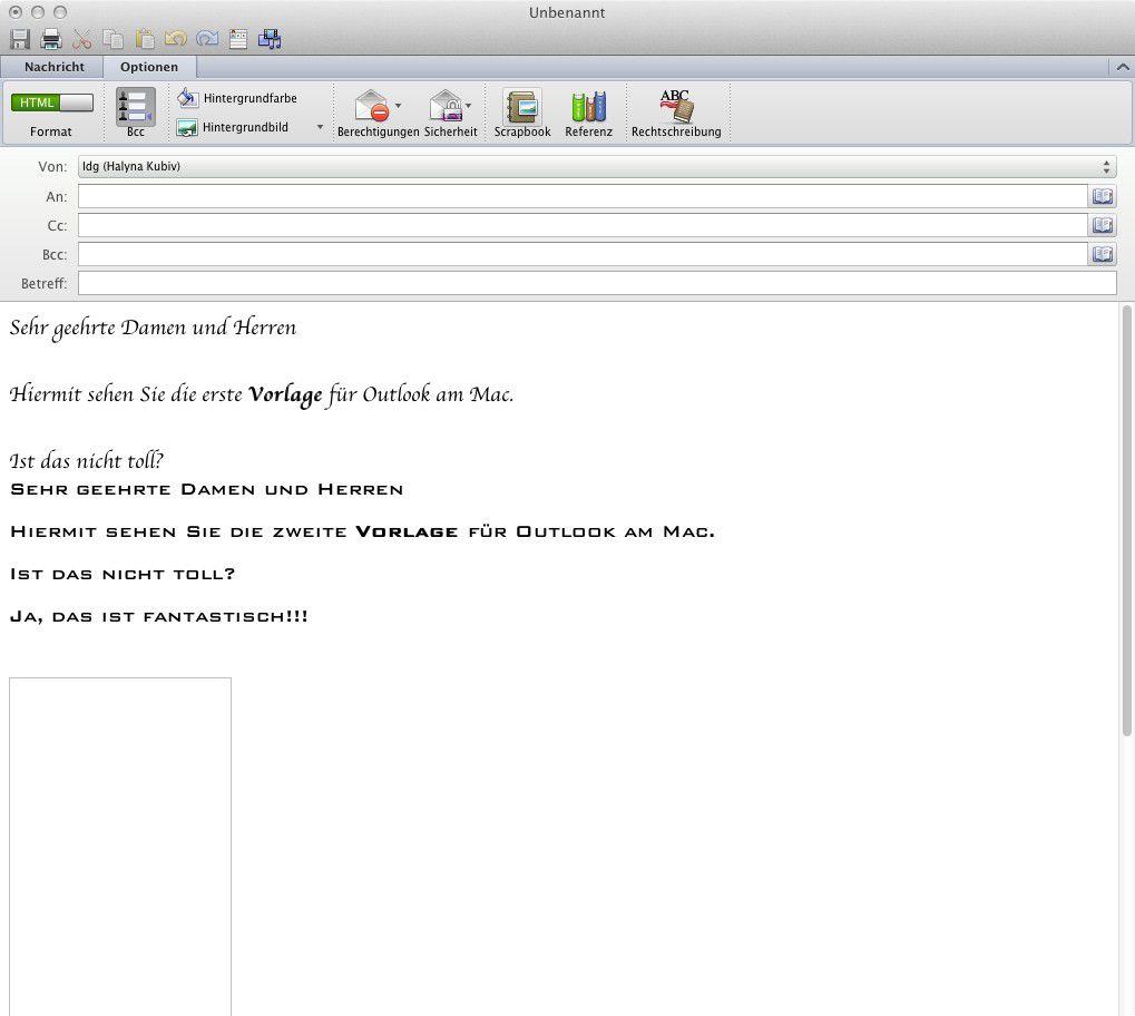 Mail Vorlagen Für Outlook 2011 Am Mac Erstellen Macwelt
