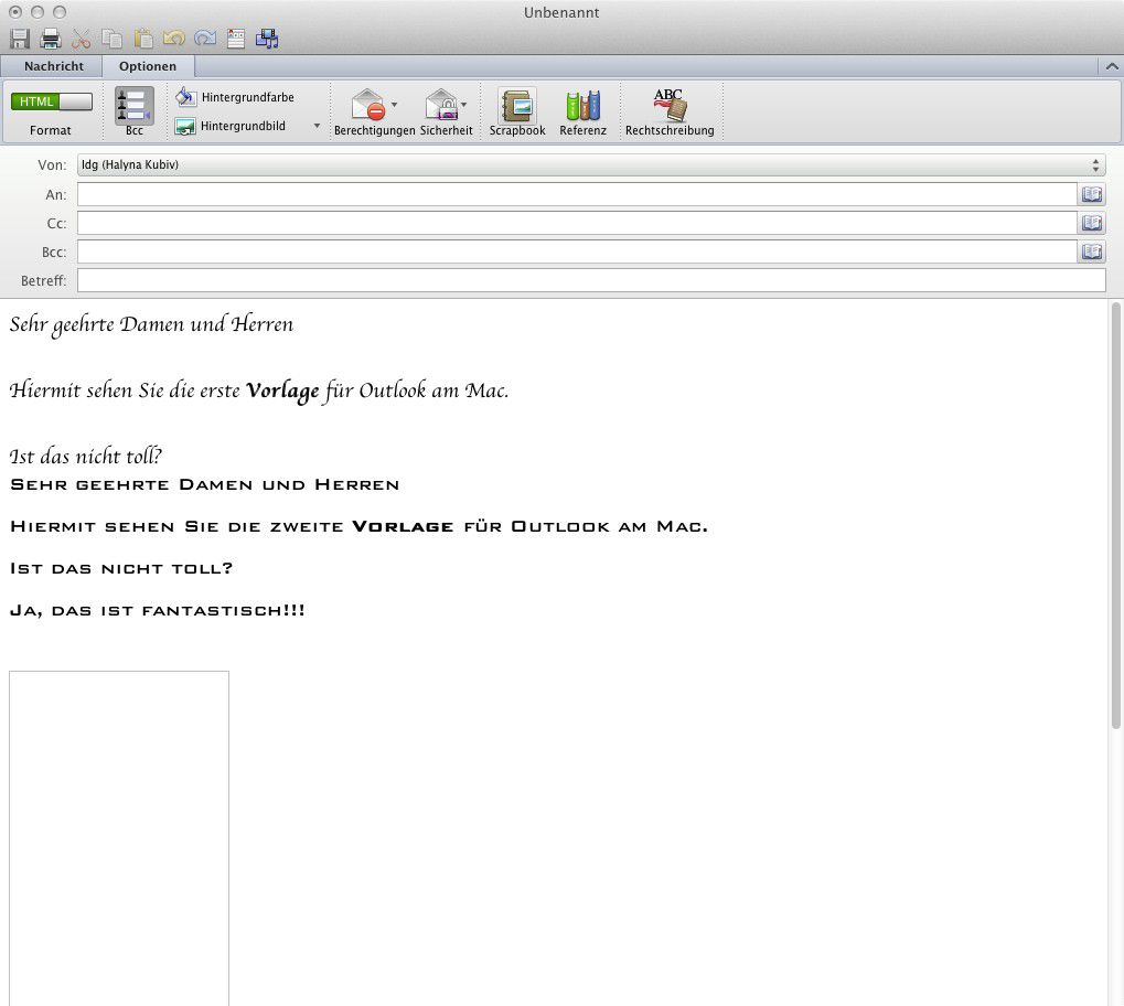 How to scrapbook on mac - Vergr Ern Die Vorbereiteten Texte Bernimmt Man In Die Leere Mail Aus Dem Scrapbook