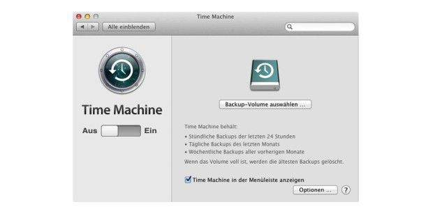 Backup mit Time Machine