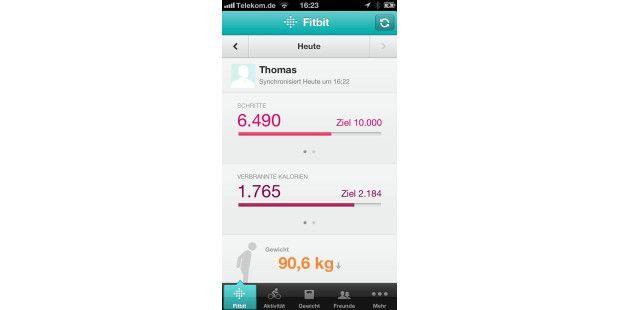 Fitbit Zip in der Übersicht am iPhone und Mac