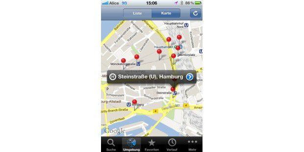 Db Fahrplan Karte.Mit Dem Iphone Ohne Auto Navigieren Fahrplan Info Db Navigator