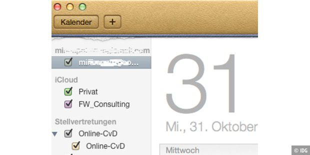 Mountain Lion: Versteckte Funktionen in Kalender
