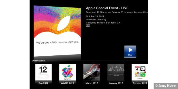 iPad Mini: Apple überträgt Keynote via Apple TV