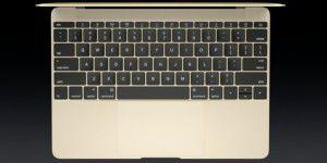 Tippen und Klicken mit dem neuen Macbook