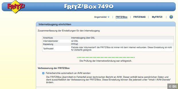 Fritzbox Einrichten Mit Dem Internet Verbinden Macwelt