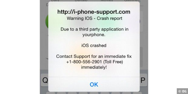 Scam mit Crash Report
