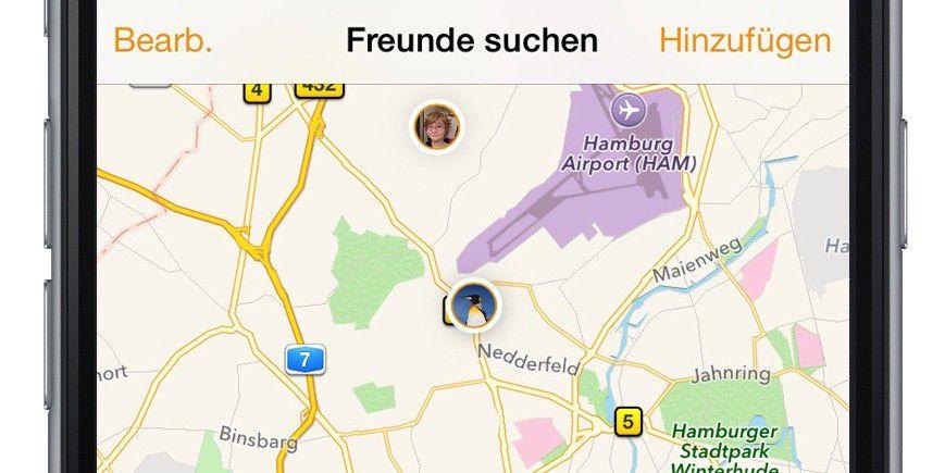 Maps Entfernungsmesser Iphone : Standortfreigabe unter freunden macwelt