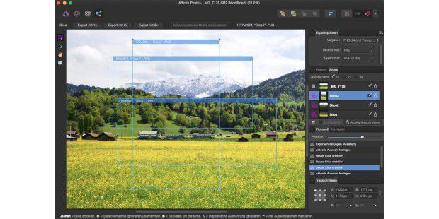 Affinity Photo - Export