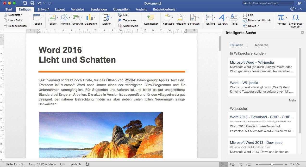 Office 2016 in der Praxis - Teil 2: Word 2016 - Macwelt