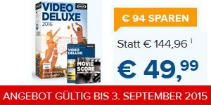 Das brandneue Videostudio Video deluxe 2016