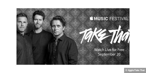 Take That ist auch in London dabei.
