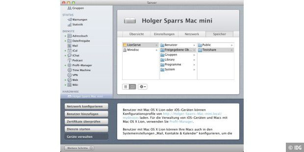 Mac-OS X Lion als Server