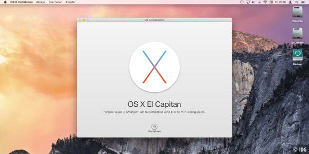 Seit 30. September im Mac App Store: OS X 10.11 El Capitan