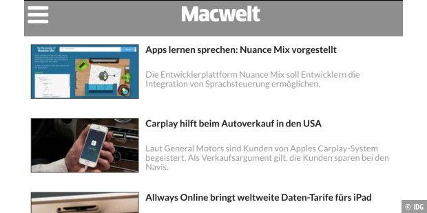 Mobilversion von Macwelt.de