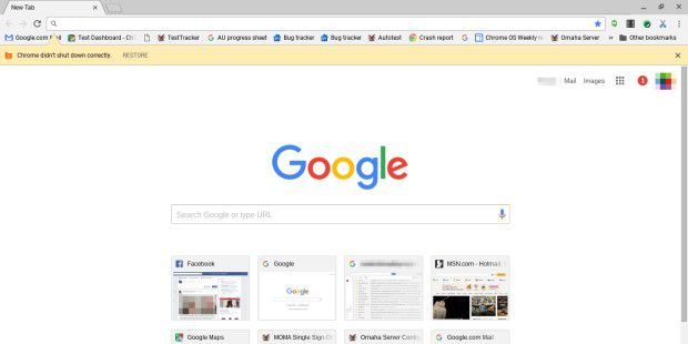 Der Chrome-Browser im Flat-Design.
