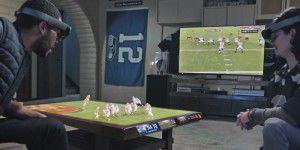 Hololens-Clip: Wohnzimmer wird zum Stadion