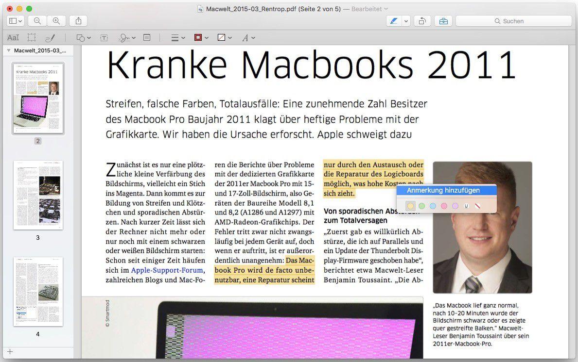 PDF zusammenfügen am Mac – mit Vorschau oder Automator - Macwelt