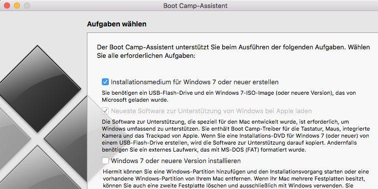 mac windows bootcamp externe festplatte