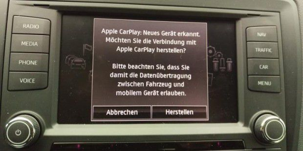 Apple Carplay im Test im Seat Ibiza.
