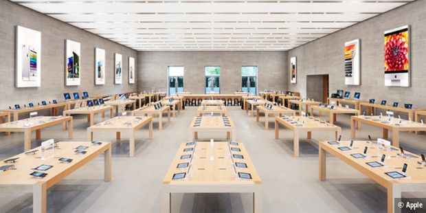 apple store berlin wegen kunstaktion evakuiert macwelt. Black Bedroom Furniture Sets. Home Design Ideas